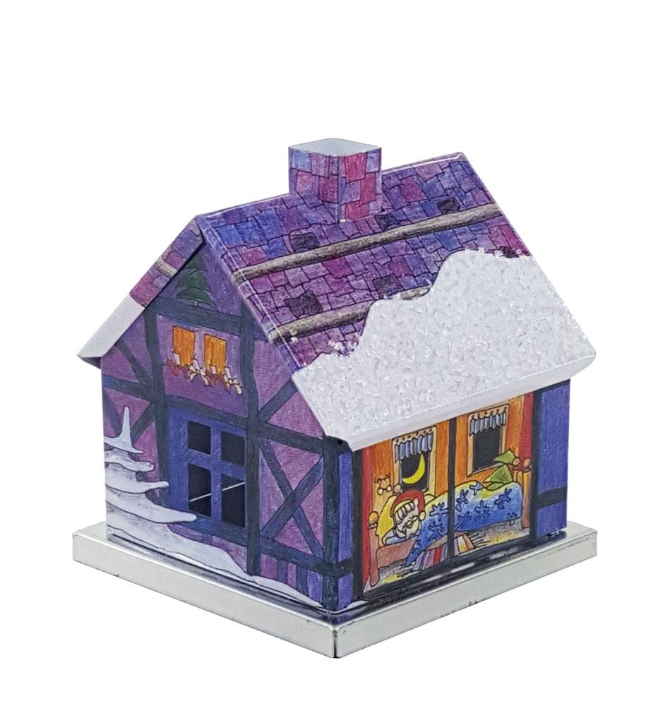 metall r ucherhaus adventshaus weihnachtsmann blau. Black Bedroom Furniture Sets. Home Design Ideas